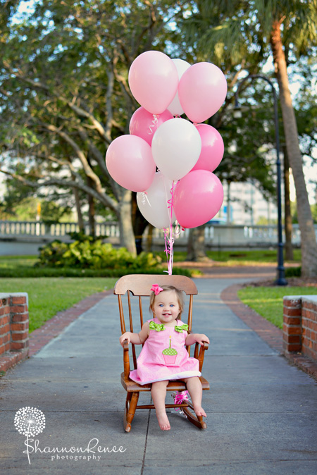 One Year Old Birthday Session Little Miss S University Of Tampa